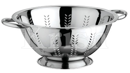Deep Colander with Leaf Cutting