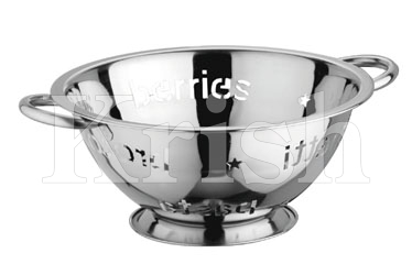Deep Colander With Pasta Writing Cutting