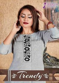 Trendy Self Lining Wholesale Kurti