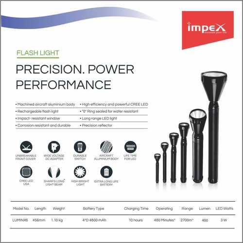 IMPEX LED Flash Light (LUMIN X6)