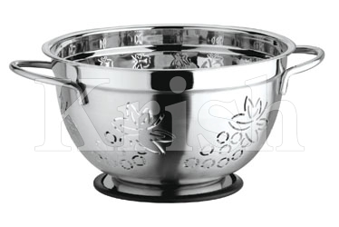 German Colander with Grapes Cutting & Wire Handles