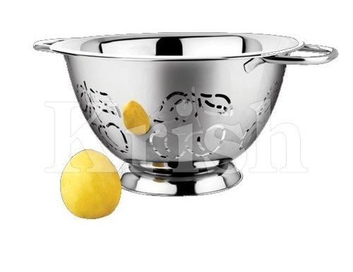Deep Colander With Cherry Cutting & Pipe Handles