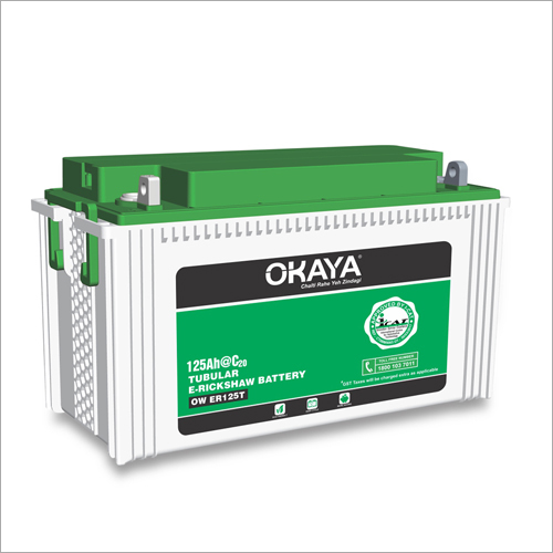 125 Ah Tubular E-Rickshaw Battery