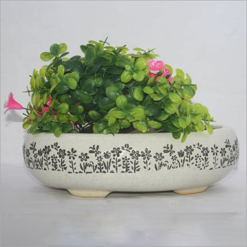 Printed Ceramic Flower Planter
