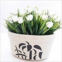 Oval Ceramic Planter