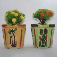 Colored Ceramic Flower Pot
