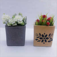 Printed Ceramic Flower Pot