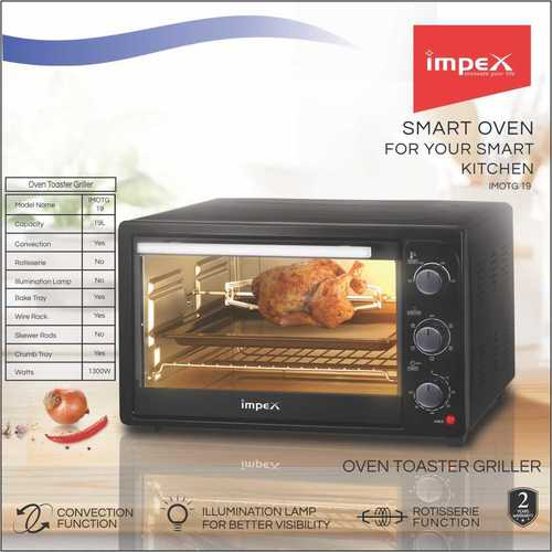 IMPEX OVEN TOASTER GRILLER (IMOTG19)