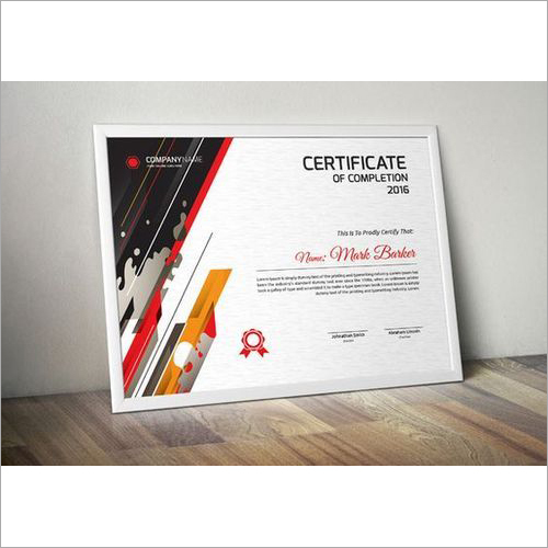 UV Printed Certificates