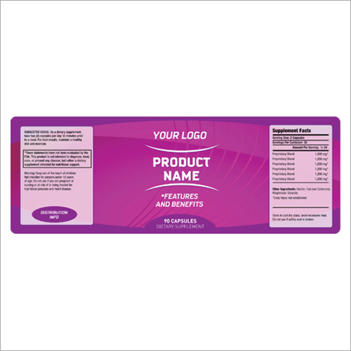 Printing Product Label