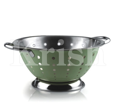Colored Deep Colander - Raindrop Cutting