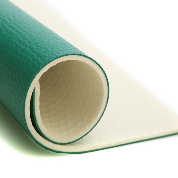 4.5mm green litchi pvc Sport Flooring