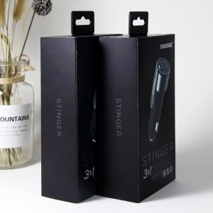 paper packaging gift box for car charger with favorable price 2019