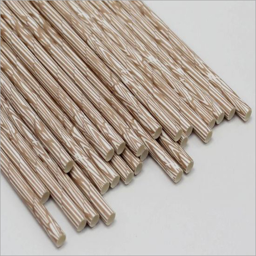 Strip Print Wooden Straw