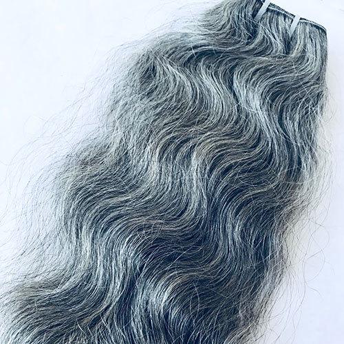 Natural Grey Human Hair Extensions