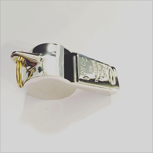 Police Brass Thunderer Whistle