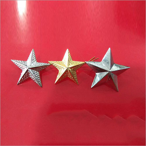 Police Brass Uniform Star Badges
