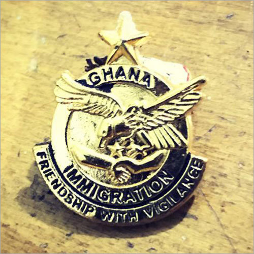 Ghana Immigration Brass Badge