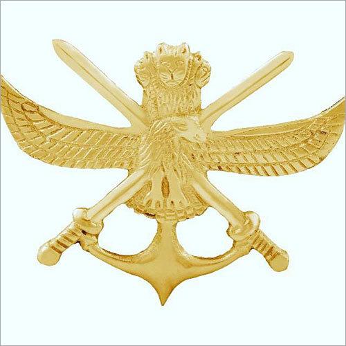 Police Shiny Brass Badge