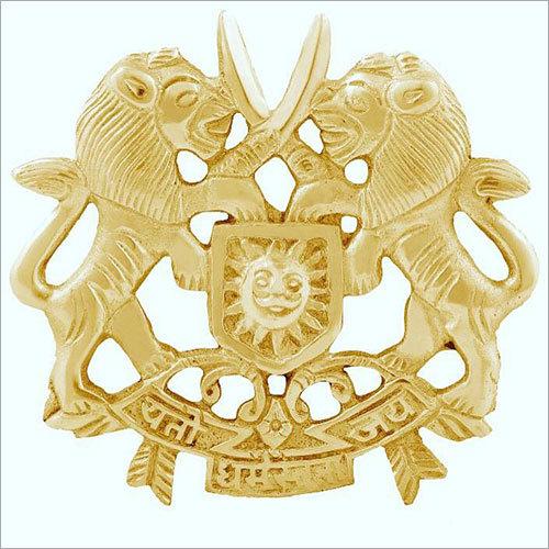Antique Indian Brass Rajput Badge