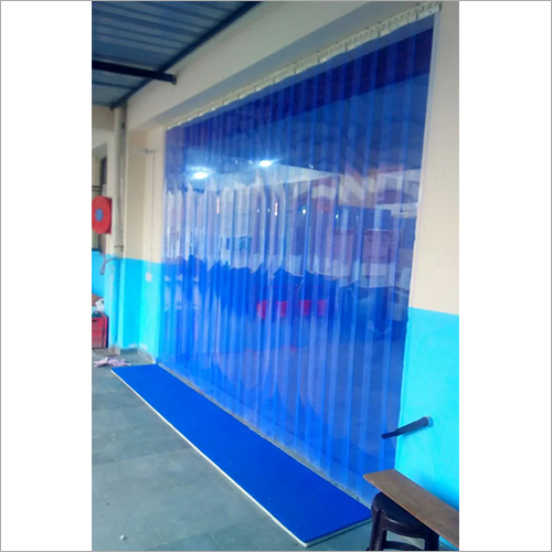 Transperent Blue PVC Strip Curtain