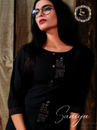 Rayon Cotton Embroidery Kurti