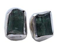 Moldavite 925 Silver Gemstone Stud Earring