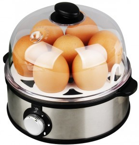 Egg cooker steamer with hardness setting