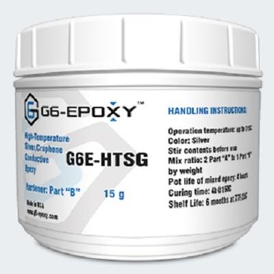 HIGH TEMPERATURE SILVER/GRAPHENE CONDUCTIVE EPOXY G6E-HTSG