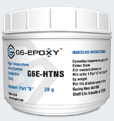 HIGH TEMPERATURE SILVER/CARBON CONDUCTIVE EPOXY G6E-HTNS
