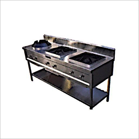 Chinese Three Burner Cooking Range