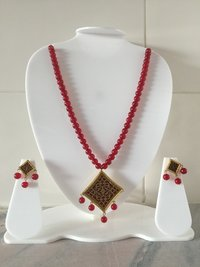 Trendy Red Beads Necklace
