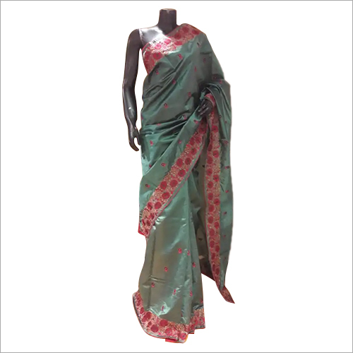 Silk Dupion Embroidered Saree