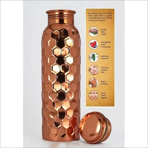 Diamond Cut Copper Bottle