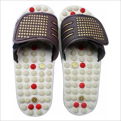 Magnetic White Acupressure Slipper