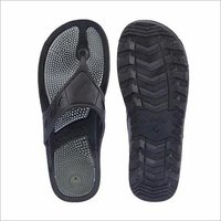 Acupressure Black Rubber Slipper