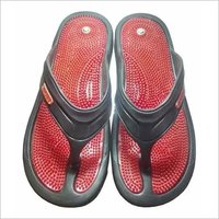Red Acupressure Rubber Slipper