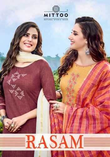 Rayon Embroidery Wholesale Kurti With Dupatta