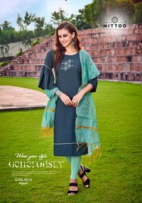 Rayon Embroidery Wholesale Kurti With Dupatta