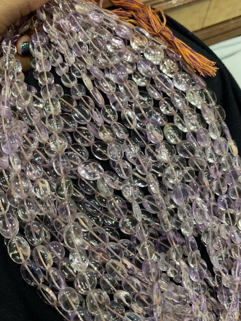 13 inch Ametrine smooth oval shapes beads,ametrine beads