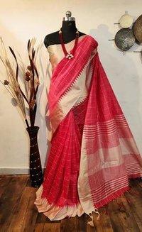 Raw silk weaving saree
