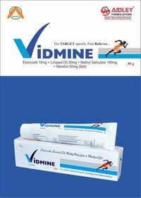 Etoricoxib 10mg + Methyl Salicylate 100mg + Menthol 50mg + Linseed Oil  30mg per gm. Of  Gel