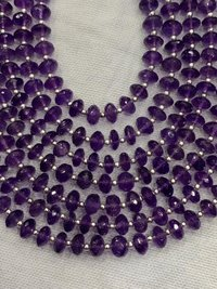 14 inches Amethyst rondelle faceter beads 7-7.5mm,amethyst beads