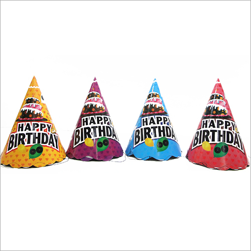 Cone Shaped Birthday Cap