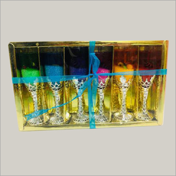 Birthday Wine Glass Gel Candle