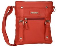 WOMEN RED SLING BAG