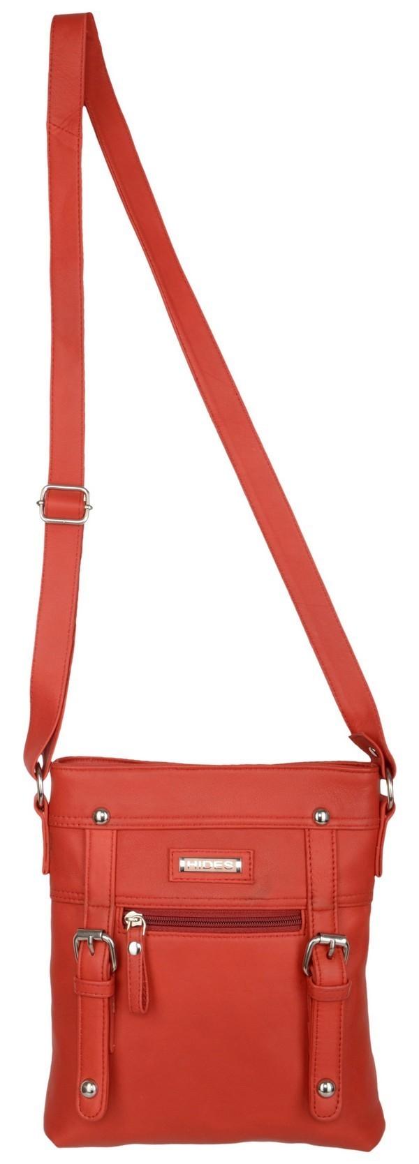 WOMEN RED SLING BAG