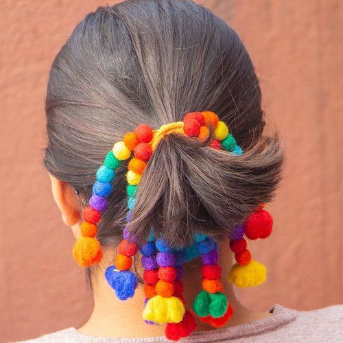 Felt Hair dreadlock elastics