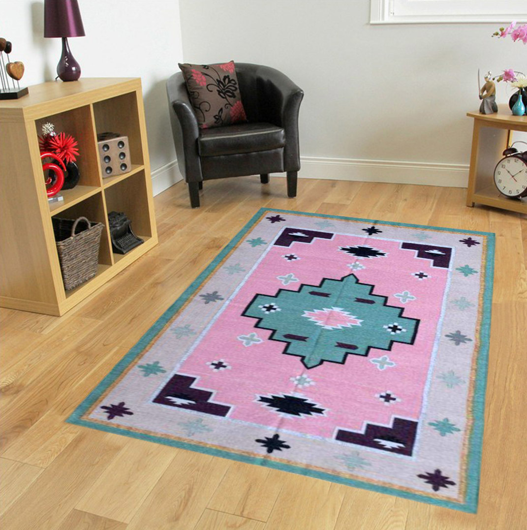 Cotton Flat Weave Accent Rug