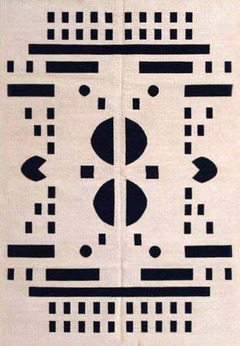 Modern Cotton Flat Weave Rug